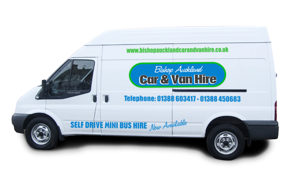 Long Wheel Base transit with high roof for hire county durham