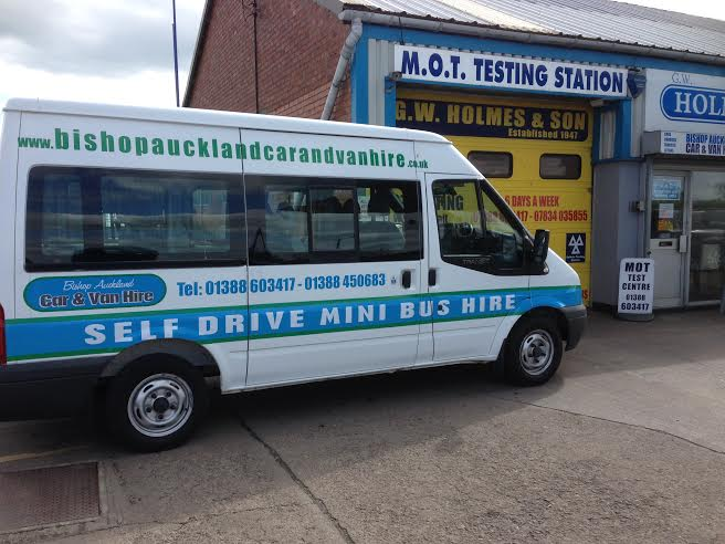 9 seater mini bus hire bishop auckland